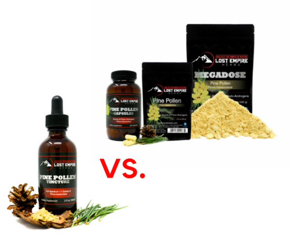pine pollen tincture vs powder