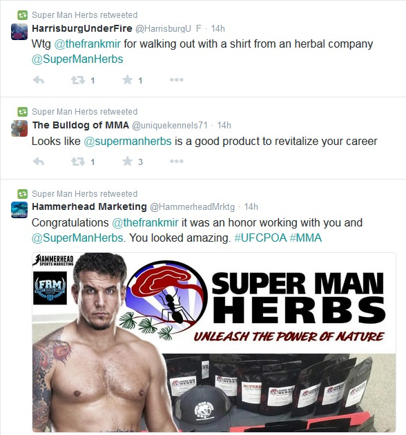 Frank Mir Super Man Herbs Buzz