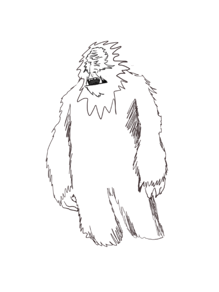 herbal yeti in snow